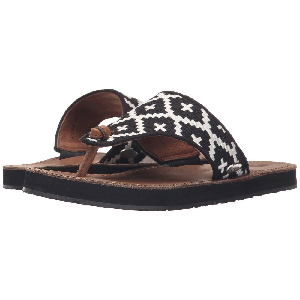 エーコーン レディース シューズ・靴 サンダル・ミュール【ArtWalk Leather Flip】Black/Cream Southwest