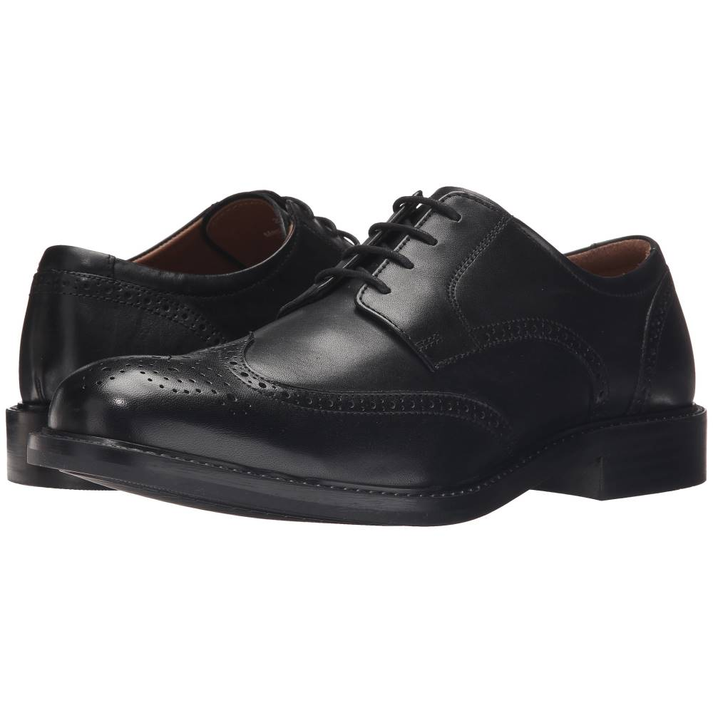 ジョンストン&マーフィー メンズ シューズ・靴 革靴・ビジネスシューズ【Tabor Wingtip】Black Calfskin