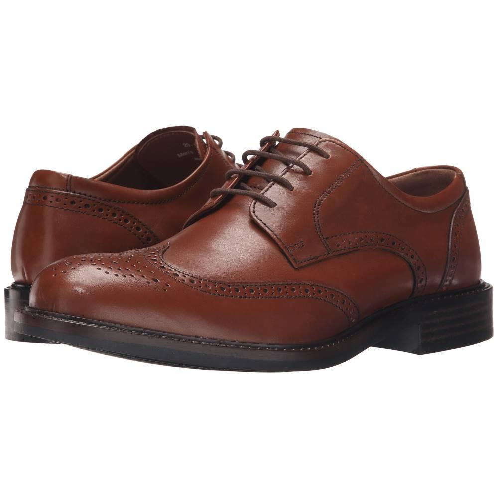 ジョンストン&マーフィー メンズ シューズ・靴 革靴・ビジネスシューズ【Tabor Wingtip】Tan Calfskin