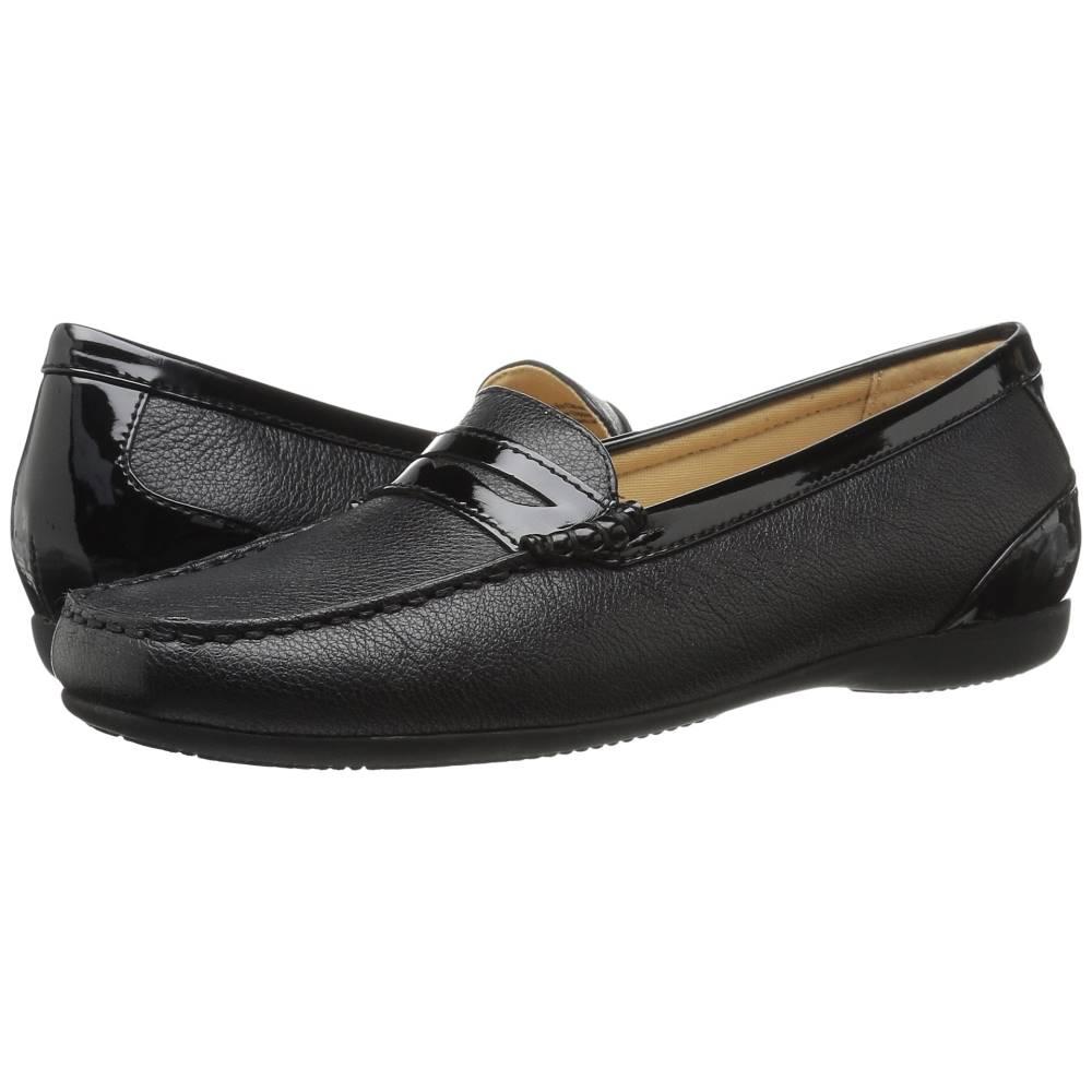 トロッターズ レディース シューズ・靴 ローファー・オックスフォード【Staci】Black Soft Mini Tumbled Leather/Patent