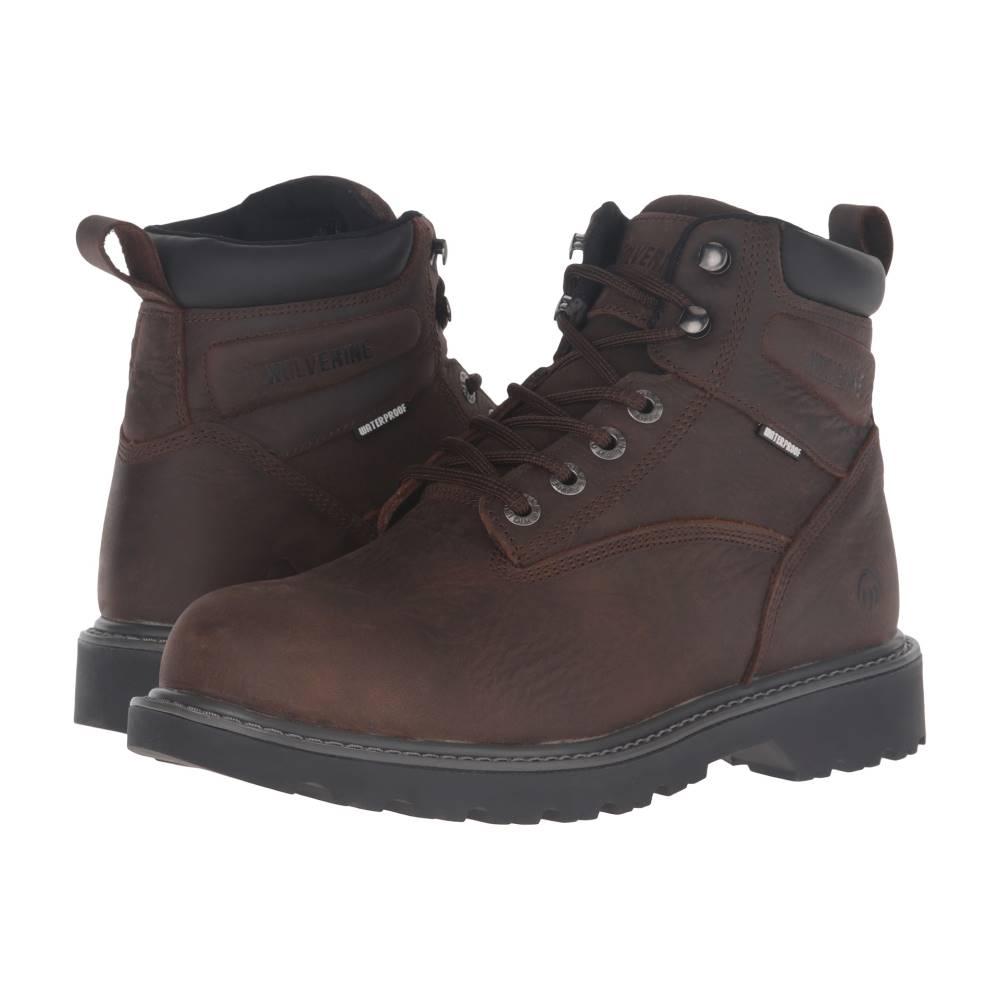 ウルヴァリン メンズ シューズ・靴 ブーツ【Floorhand Steel Toe】Dark Brown