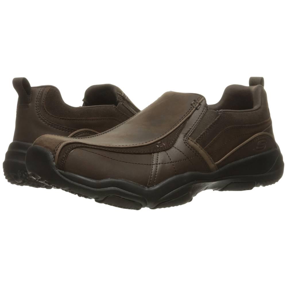 スケッチャーズ メンズ シューズ・靴 スニーカー【Classic Fit Larson - Berto】Dark Brown Leather