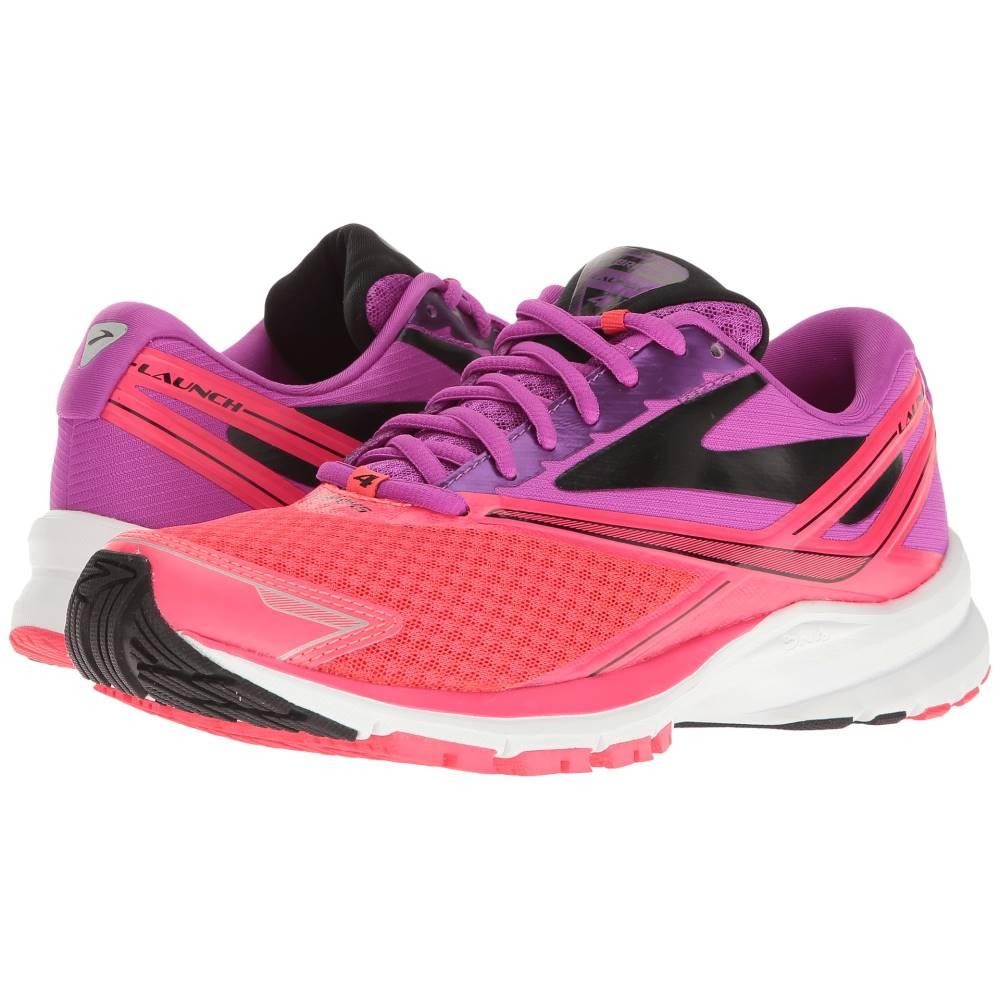 ブルックス レディース シューズ・靴 スニーカー【Launch 4】Purple Cactus Flower/Diva Pink/Black