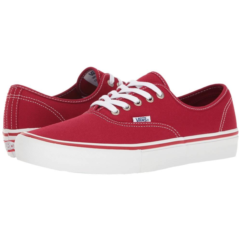 ヴァンズ メンズ シューズ・靴 スニーカー【Authentic' Pro】Scarlet/White