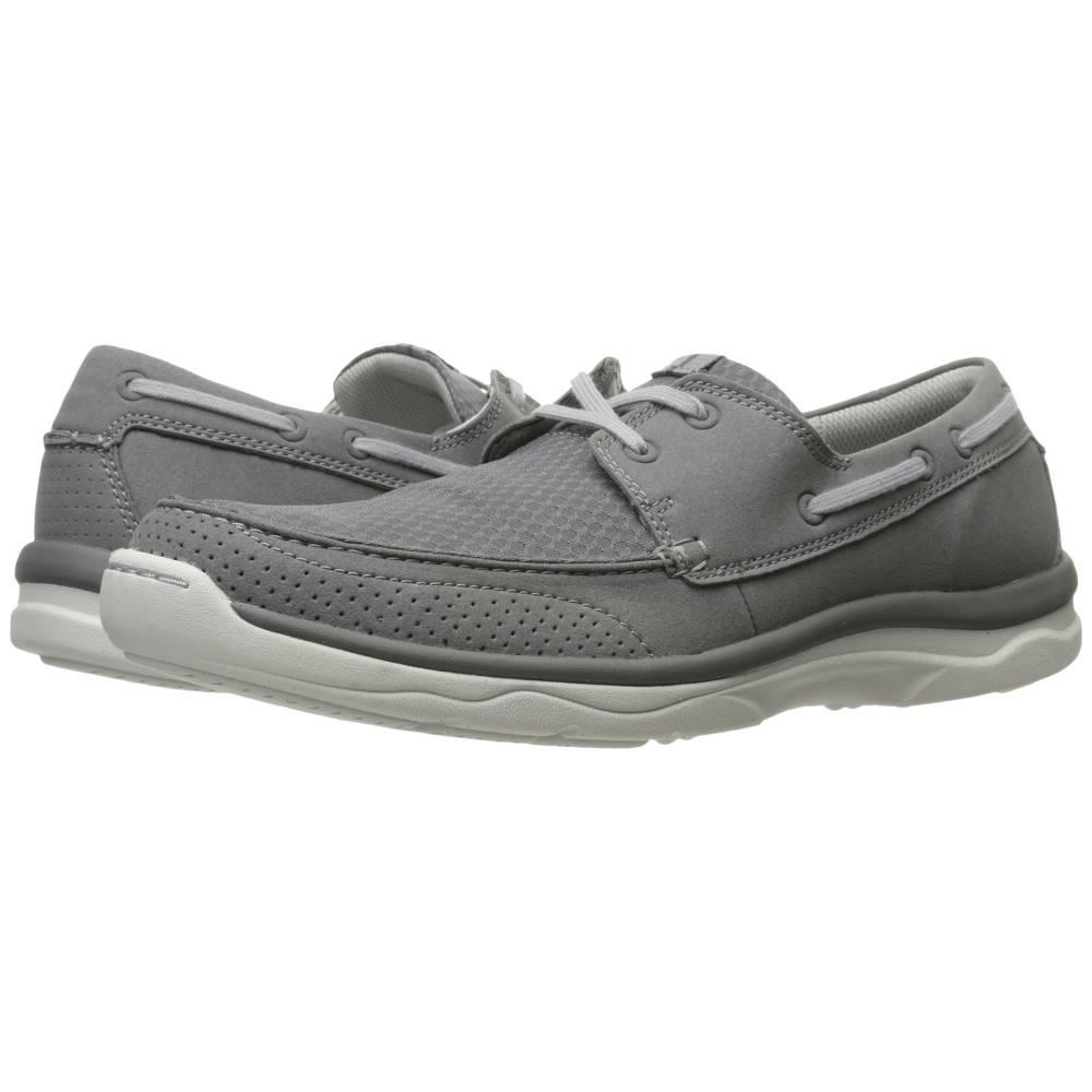 クラークス メンズ シューズ・靴 ローファー【Marus Edge】Grey Synthetic