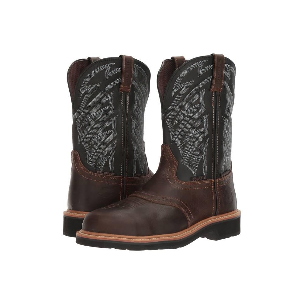 ジャスティン メンズ シューズ・靴 ブーツ【WK4574】Dark Waxy Brown/Parched Black