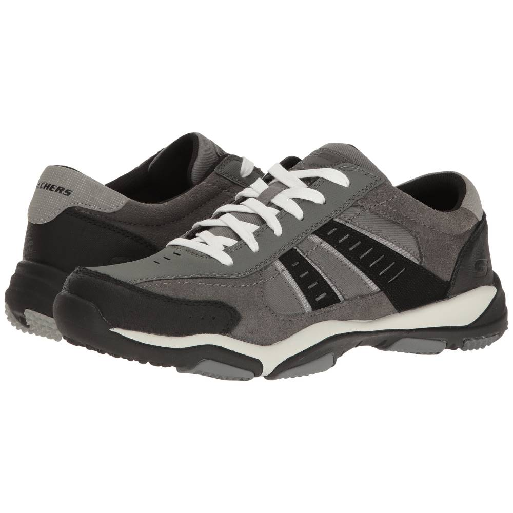 スケッチャーズ メンズ シューズ・靴 スニーカー【Classic Fit Larson - Sotes】Charcoal Leather/Canvas