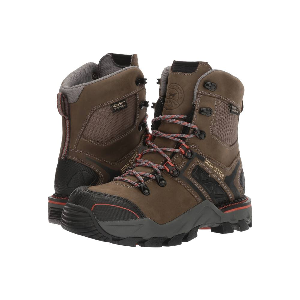 アイリッシュ セッター レディース シューズ・靴 ブーツ【Crosby 8 Waterproof Hiker】Grey/Black