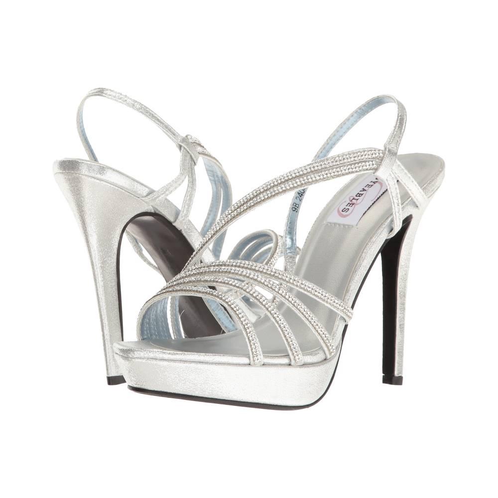 タッチアップス レディース シューズ・靴 ヒール【Dahlia】Silver Shimmer