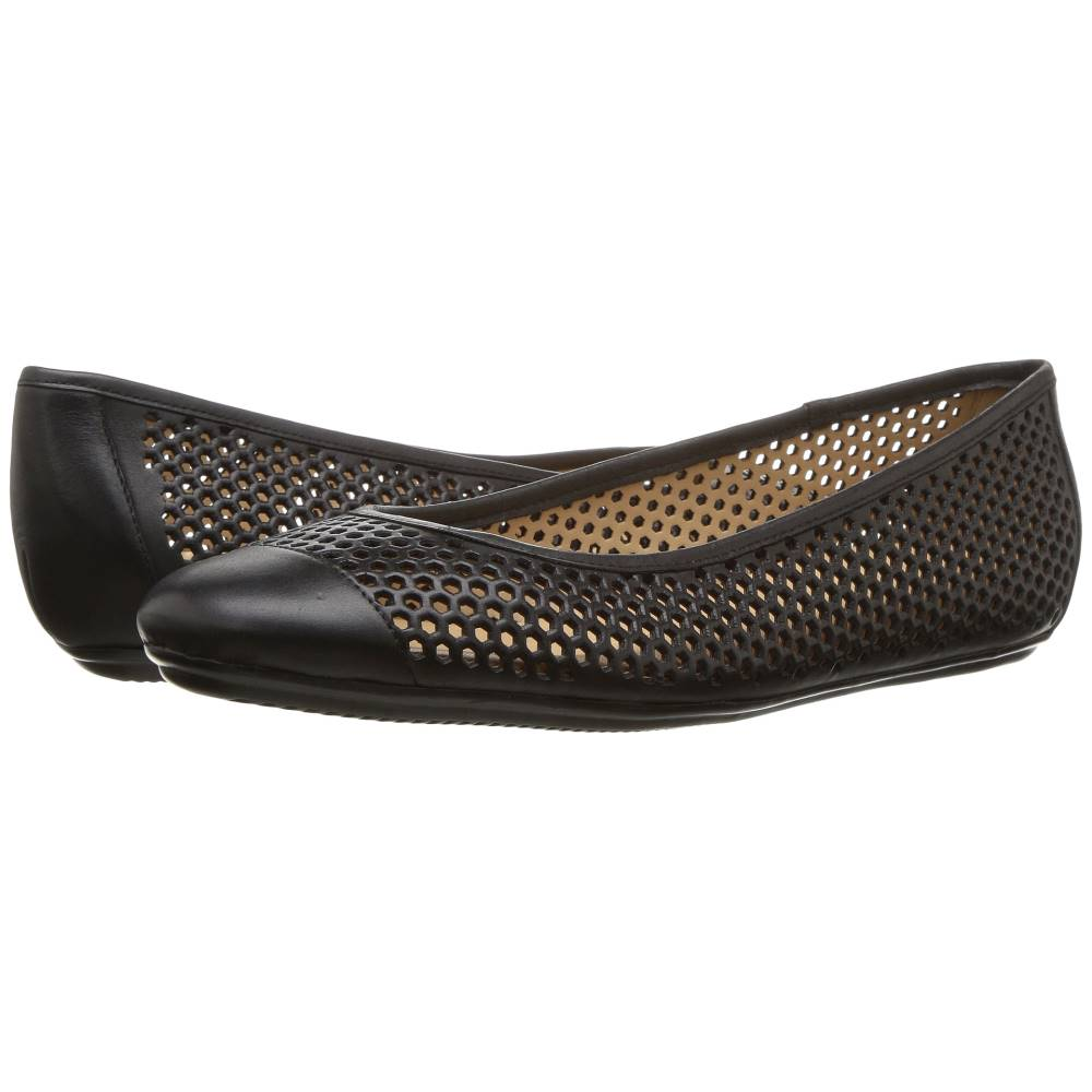 ナチュラライザー レディース シューズ・靴 スリッポン・フラット【Becca】Black Worn Leather