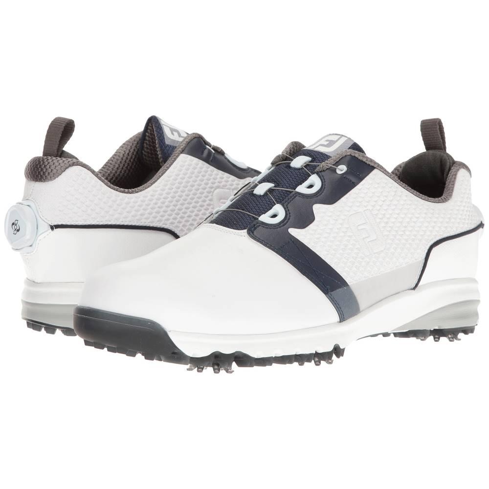 フットジョイ メンズ シューズ・靴 スニーカー【Contour FIT Cleated Plain Toe BOA】White/Navy
