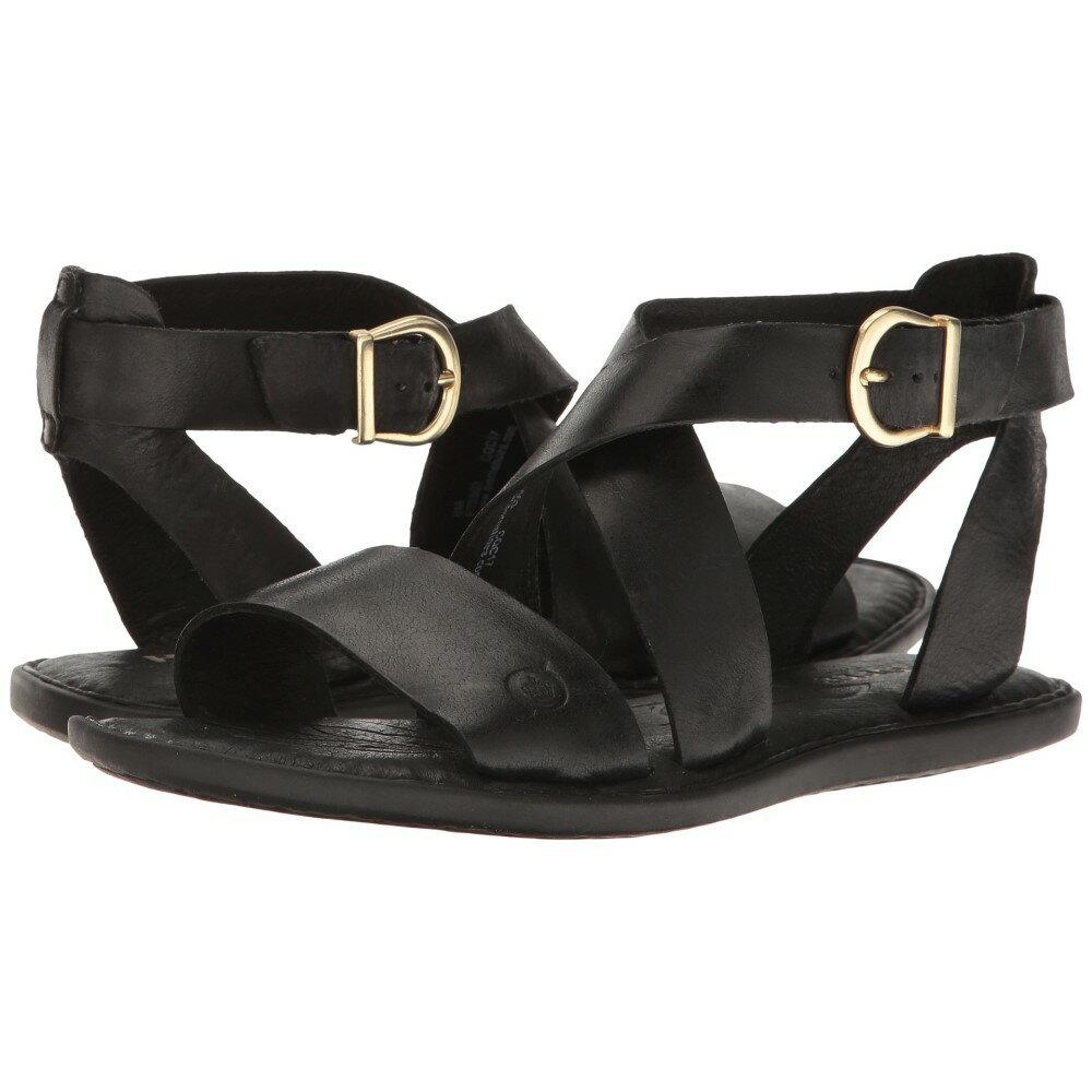 ボーン レディース シューズ・靴 サンダル・ミュール【Niel】Black Full Grain Leather