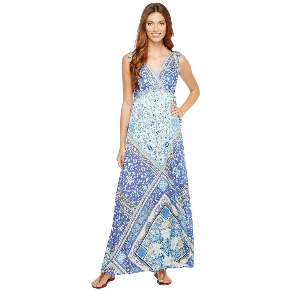 ヘイルボブ レディース ワンピース・ドレス ワンピース【Sun Kissed Rayon Stretch Satin Woven Maxi Dress】Blue