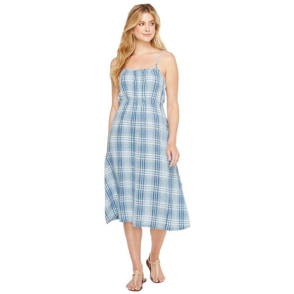 デイランバイトゥルーグリット レディース ワンピース・ドレス ワンピース【Genuine Indigo Linens Bonita Slip Dress Denim Small Plaids】Denim