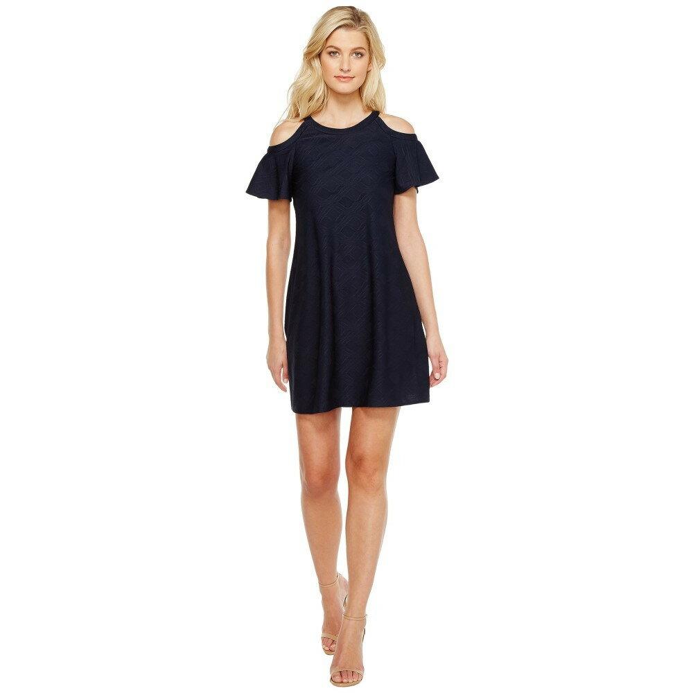 クリスティンマイケルズ レディース ワンピース・ドレス ワンピース【Phoebe Cold Shoulder Dress】Navy