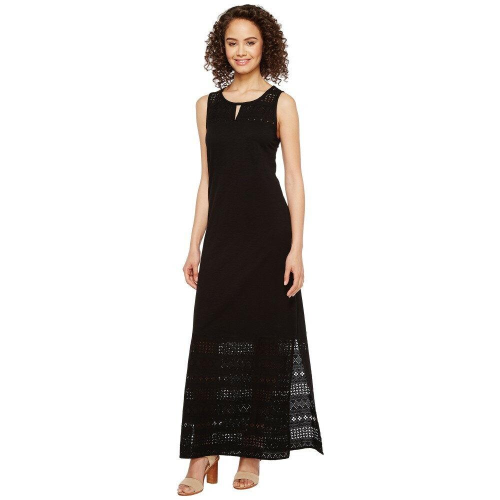 モドオードック レディース ワンピース・ドレス ワンピース【Heavier Slub Jersey Tank Maxi Dress with Eyelet Contrast】Black