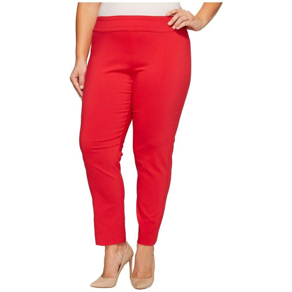豊富な資源 クレイジーラリー レディース ボトムス・パンツ【Plus Size Pull-On Ankle Pants】Red