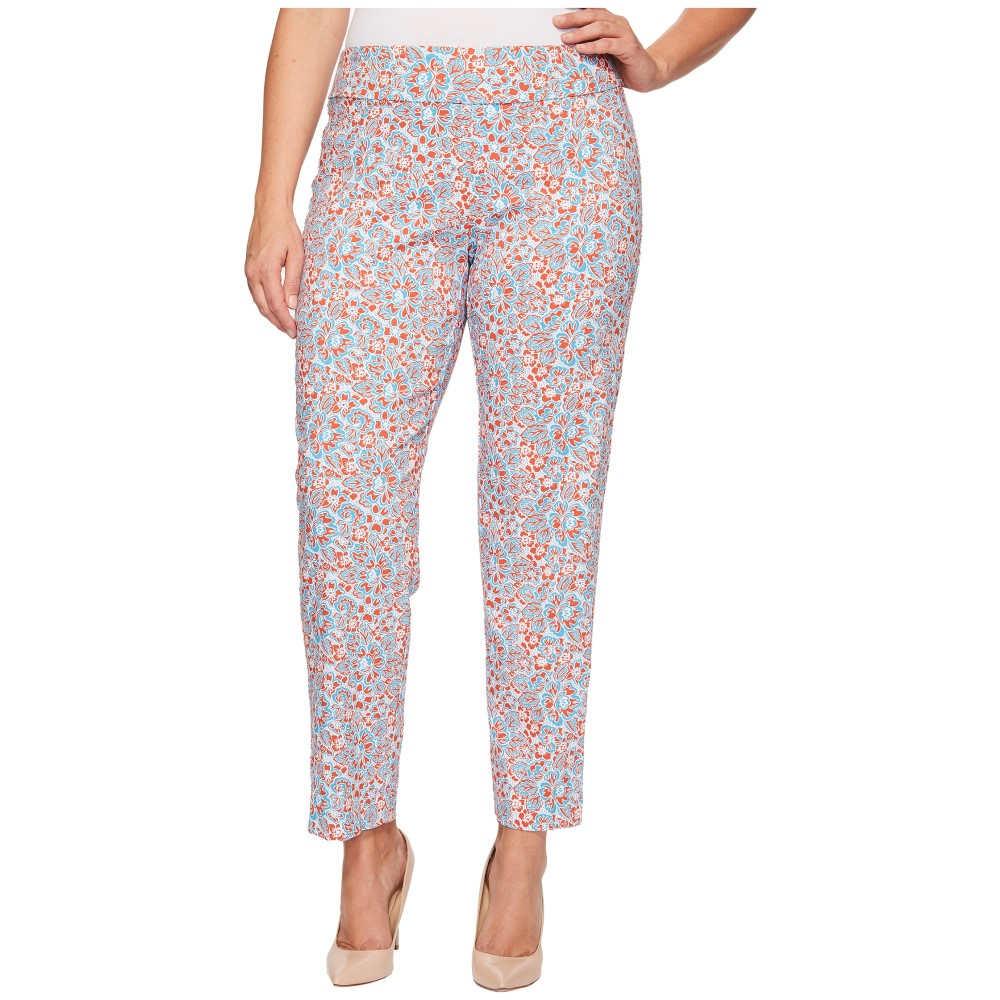 【限定品】 クレイジーラリー レディース ボトムス・パンツ【Plus Size Pull-On Ankle Pants】Turquoise Flower Print