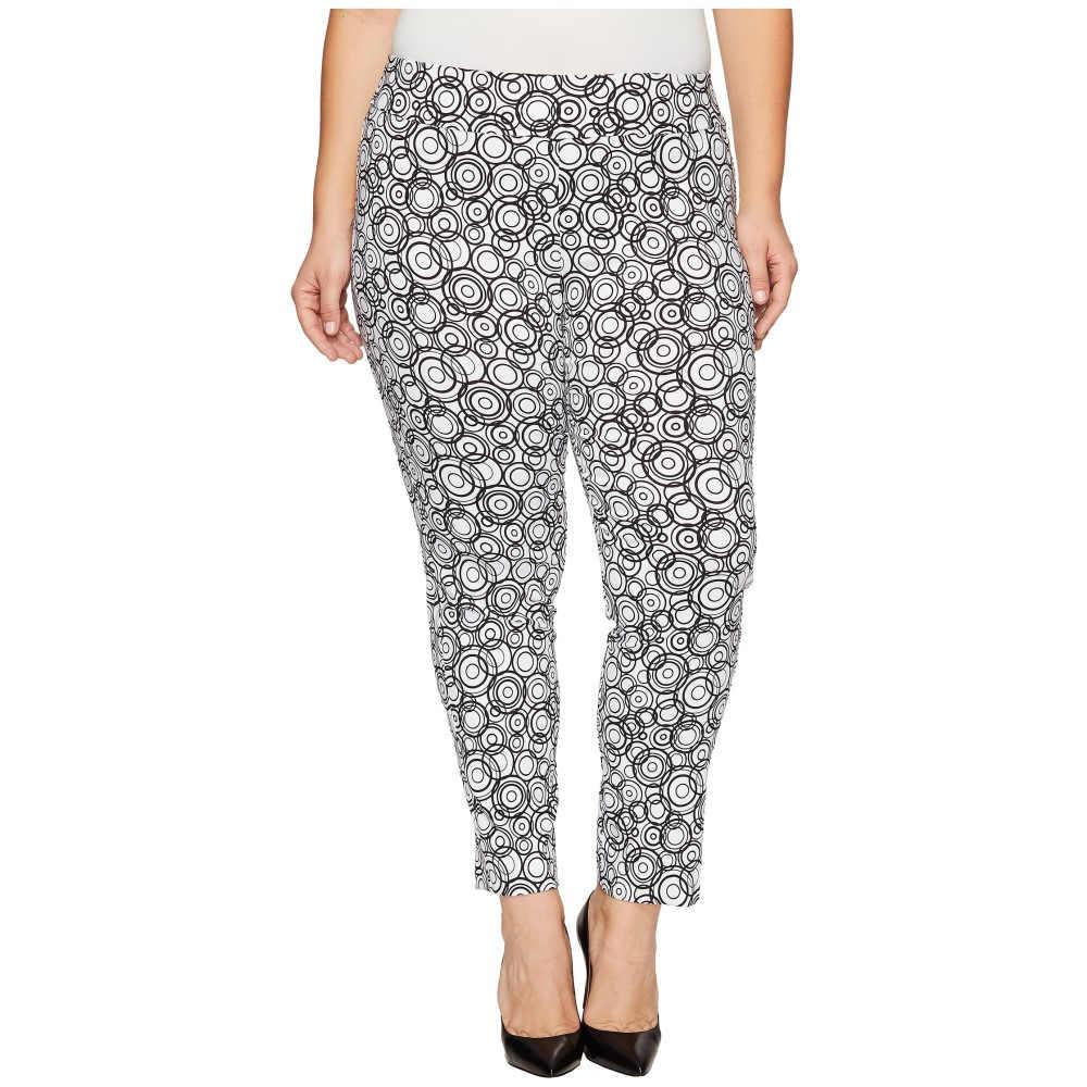 続々値下げ クレイジーラリー レディース ボトムス・パンツ【Plus Size Pull-On Ankle Pants】White/Black Circles Print