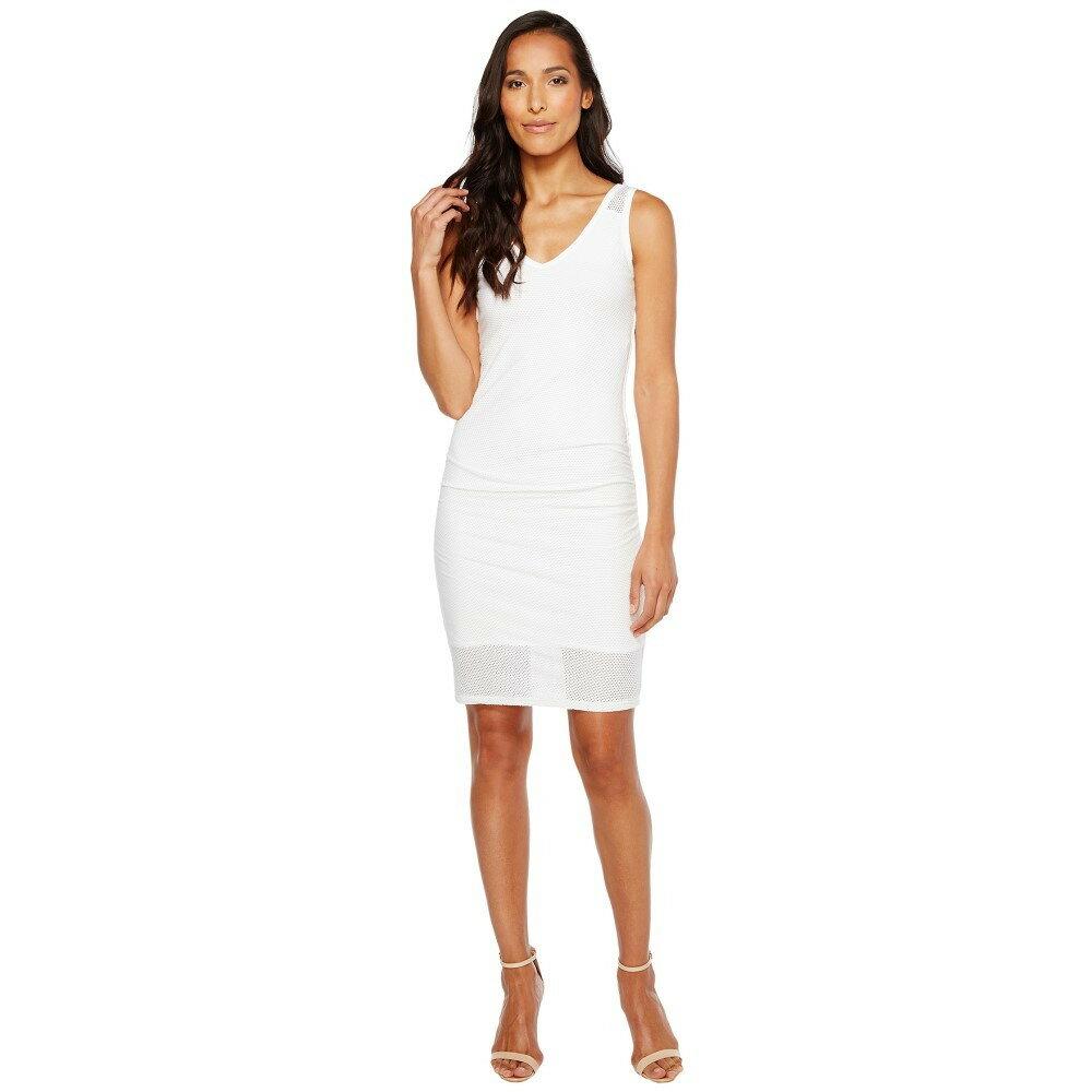 マイケルスターズ レディース ワンピース・ドレス ワンピース【Mesh V-Neck Dress】White