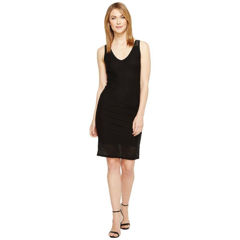 マイケルスターズ レディース ワンピース・ドレス ワンピース【Mesh V-Neck Dress】Black