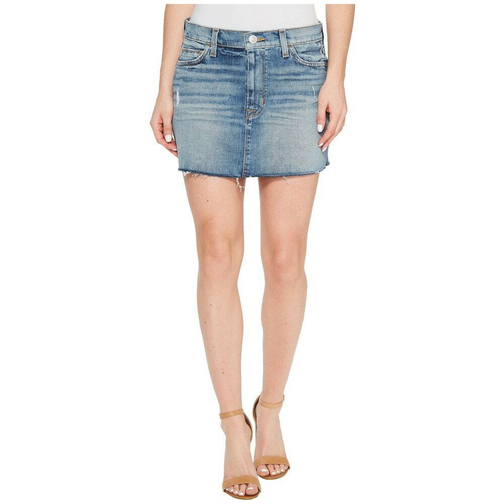 ハドソン レディース スカート ミニスカート【Vivid Denim Mini Skirt w/ Raw Hem in Sunday Girl】Sunday Girl