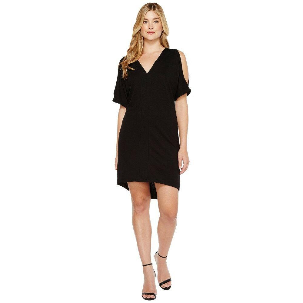 ランストン レディース ワンピース・ドレス ワンピース【Cold Shoulder Caftan Dress】Black