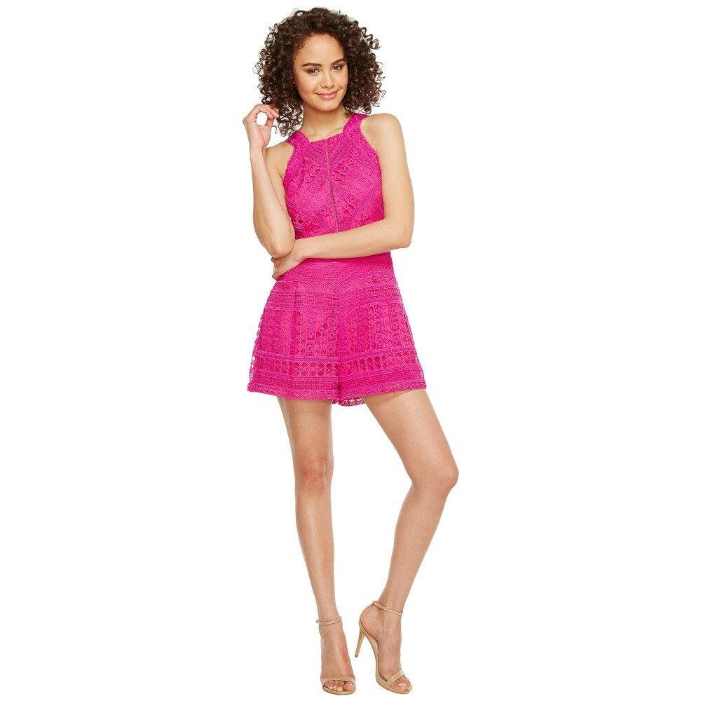 アドレイン ラエ レディース ワンピース・ドレス オールインワン【Jaclyn Woven Lace Romper】Hot Pink