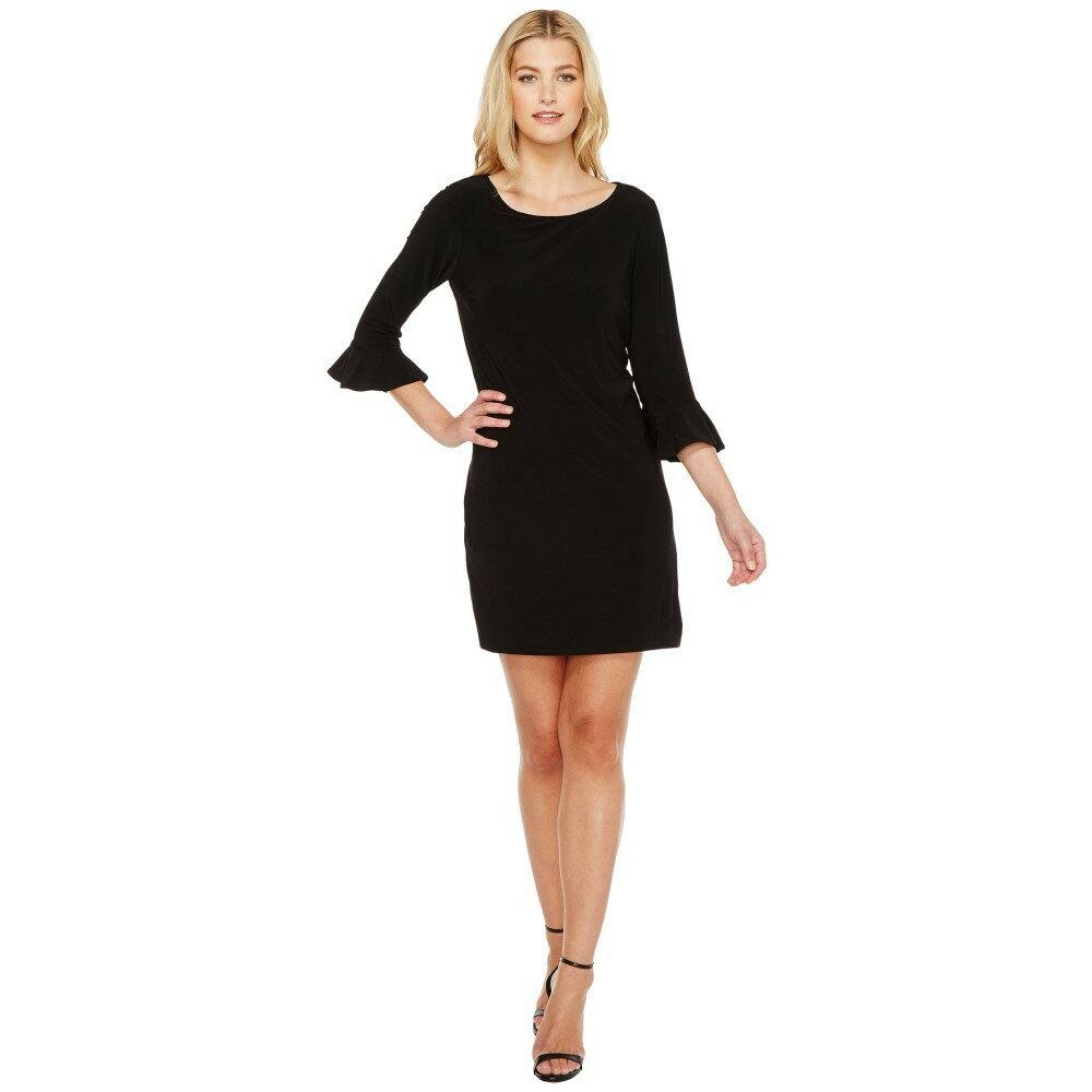 ランドリー レディース ワンピース・ドレス ワンピース【Matte Jersey Flounce Sleeve Dress】Black