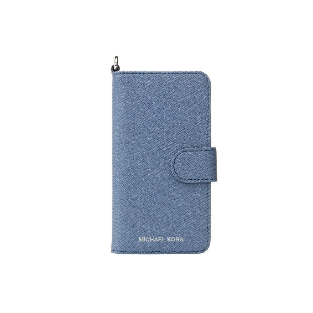 マイケル コース レディース スマートフォン・タブレットケース iPhone (7)ケース【Electronic Leather Folio Phone Case Tab 7】Denim