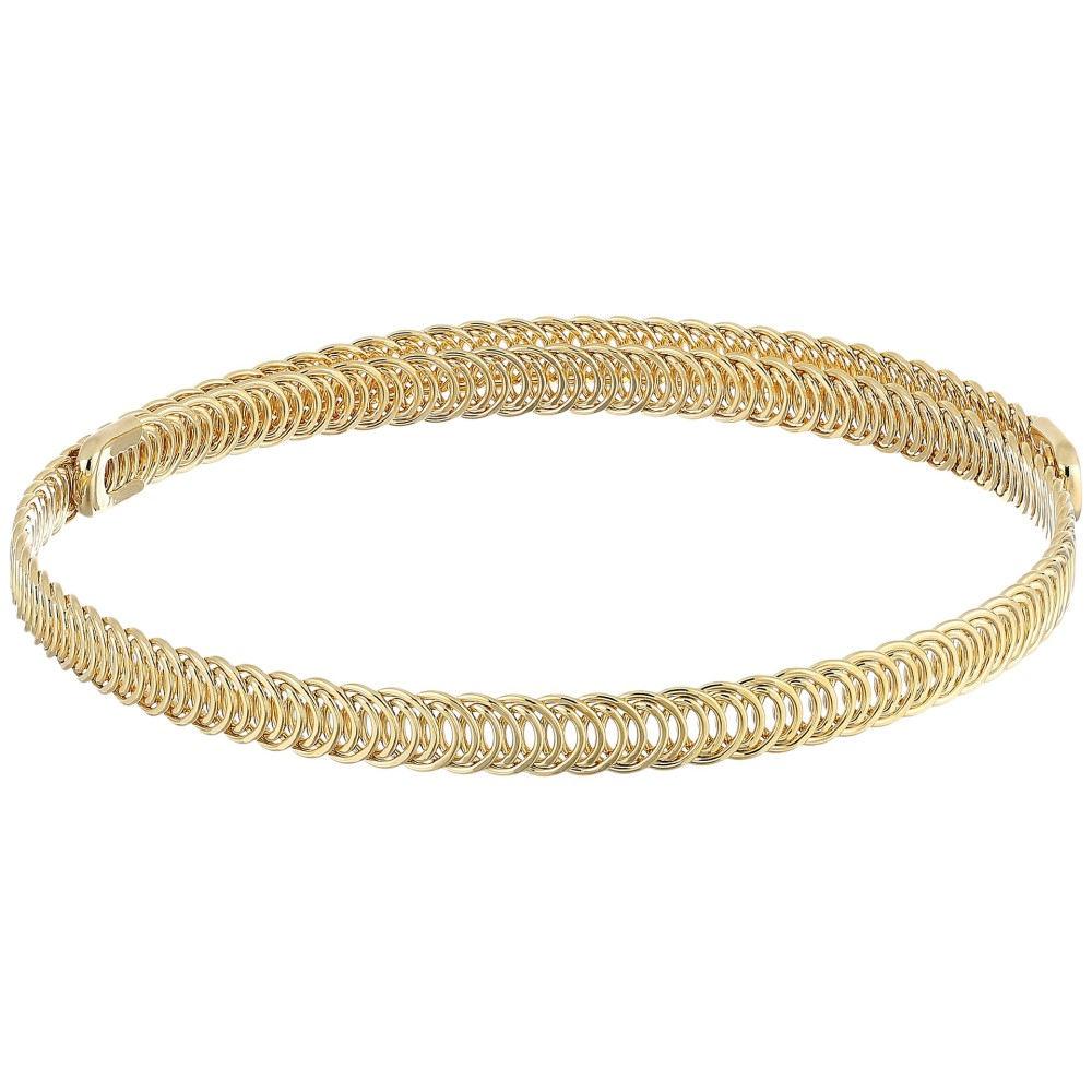 ケネスジェイレーン レディース ジュエリー・アクセサリー ネックレス【Polished Gold Braided Wrap Around Dog Collar Necklace】Gold