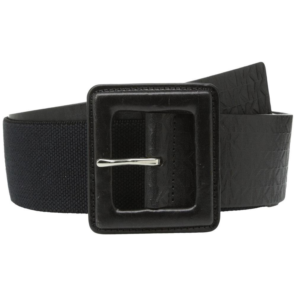 マイケル コース レディース ファッション小物 ベルト【50mm Monogram Panel Belt on Self Cover Buckle】Black Nickel