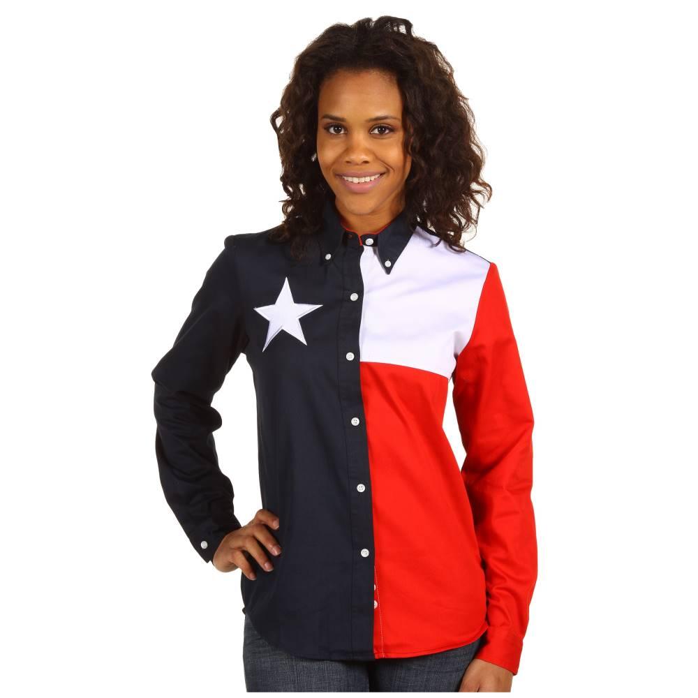 ローパー レディース トップス ブラウス・シャツ【Texas Pieced Flag Shirt】Natural