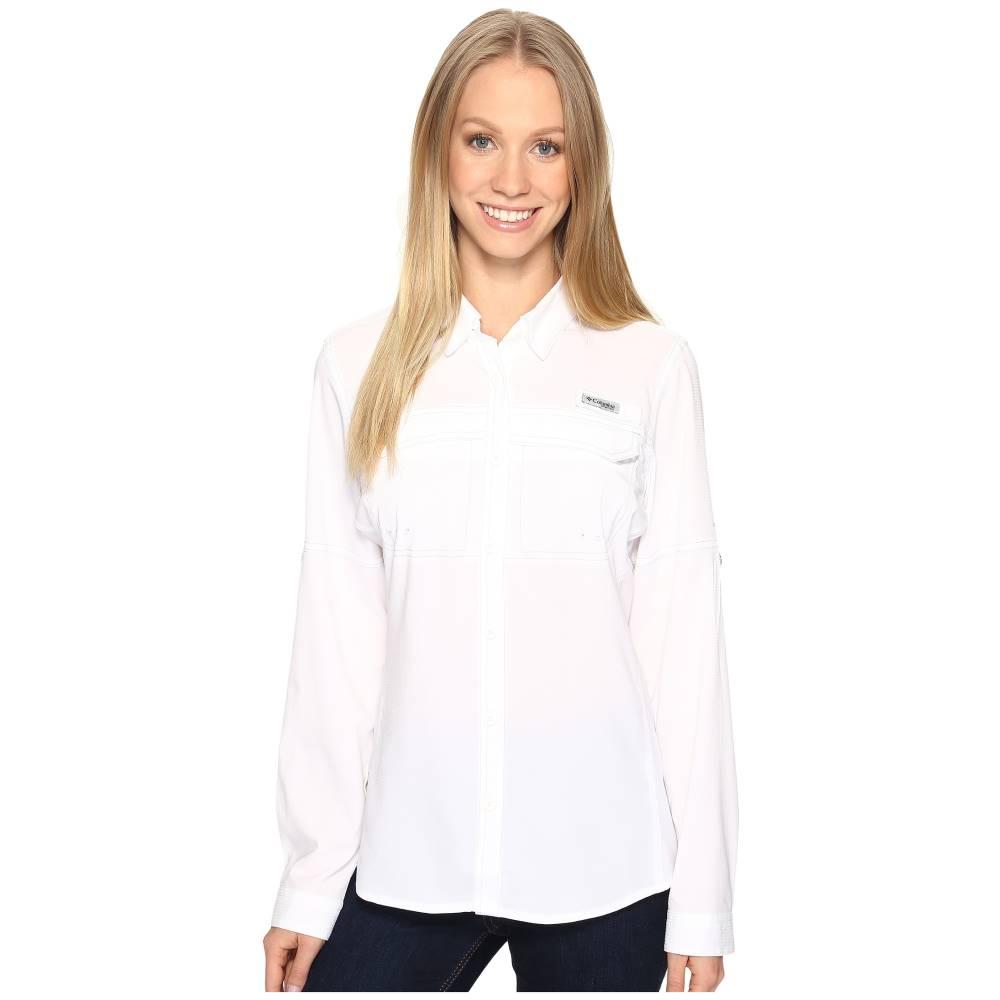 コロンビア レディース トップス ブラウス・シャツ【Lo Drag' Long Sleeve Shirt】White