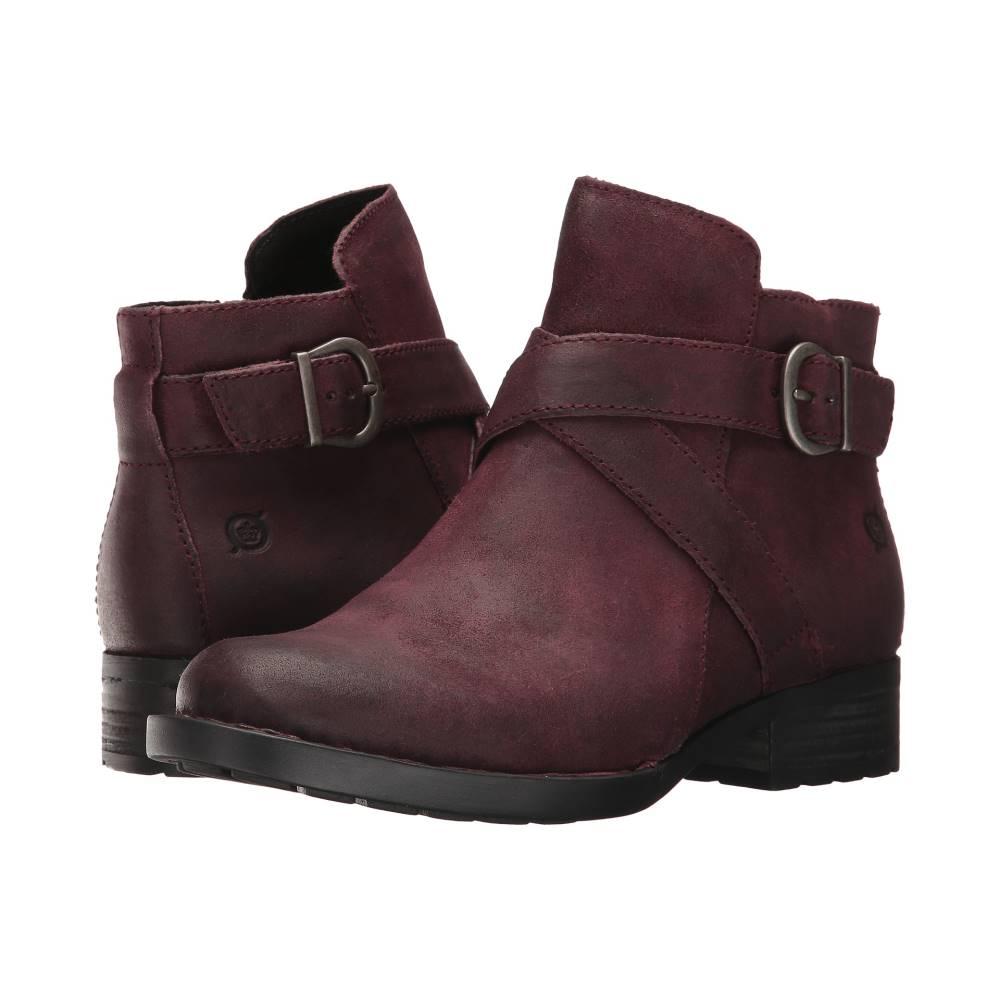 ボーン レディース シューズ・靴 ブーツ【Trinculo】Burgundy Distressed