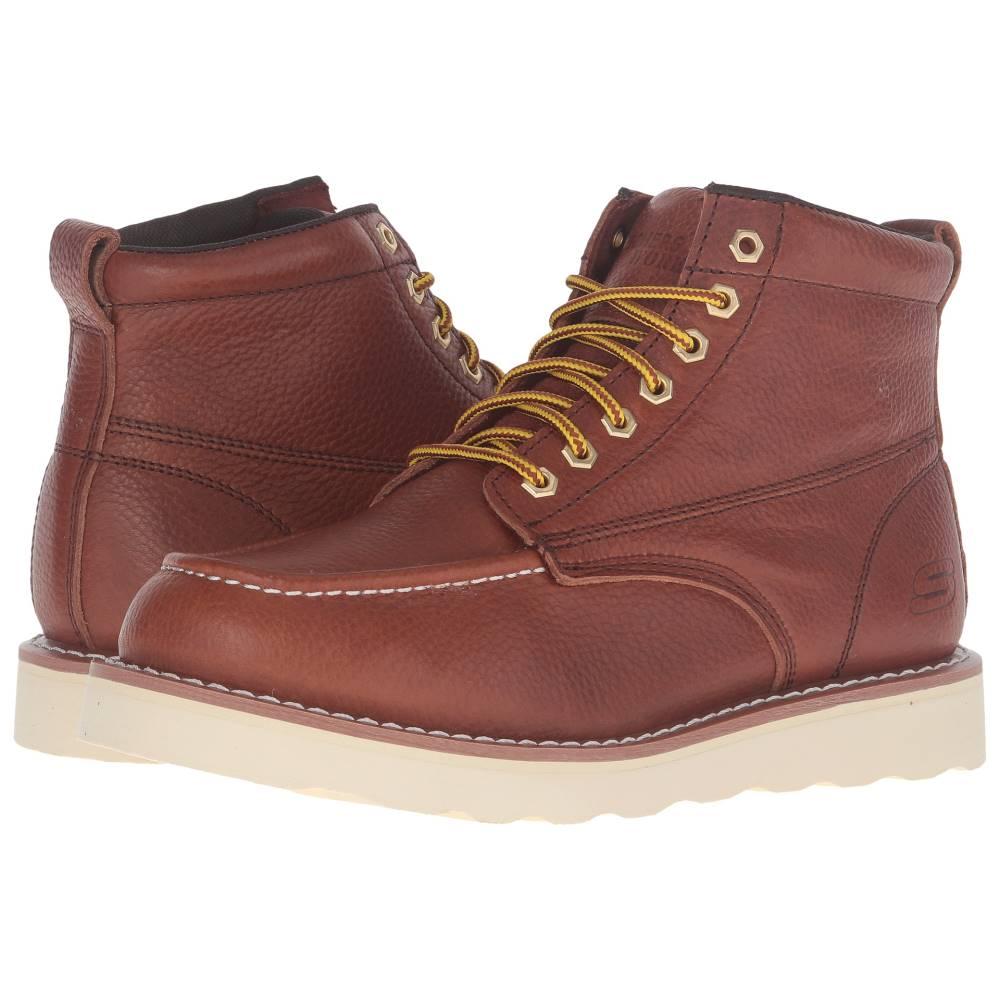 スケッチャーズ メンズ シューズ・靴 ブーツ【Pettus Wedge】Red/Brown Pitstop Leather