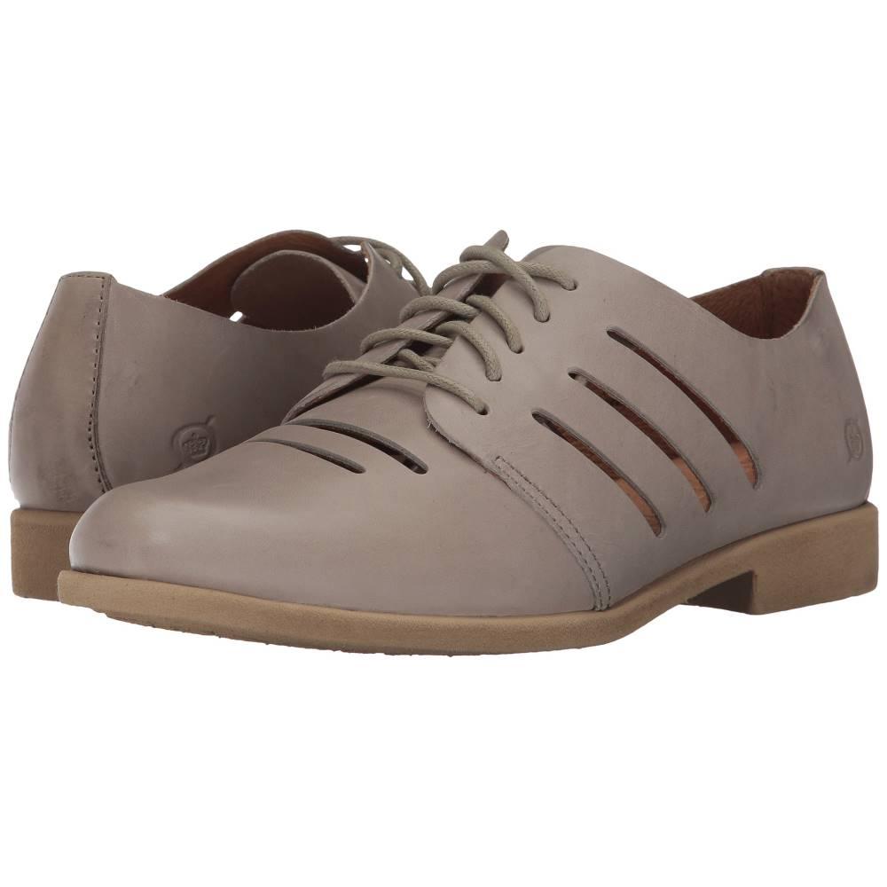 ボーン レディース シューズ・靴 ローファー・オックスフォード【Jakob】Light Grey Full Grain Leather