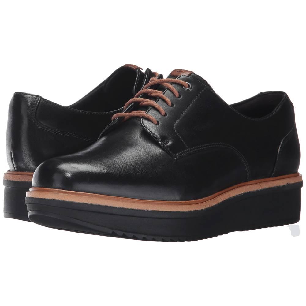 クラークス レディース シューズ・靴 ローファー・オックスフォード【Teadale Rhea】Black Leather