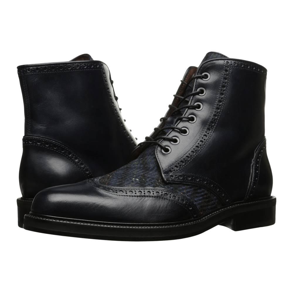 エトロ メンズ シューズ?靴 ブーツ【Plaid Boot】Navy