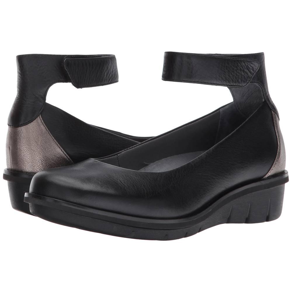 ダンスコ レディース シューズ・靴 ローファー・オックスフォード【Jenna】Black Milled Nappa
