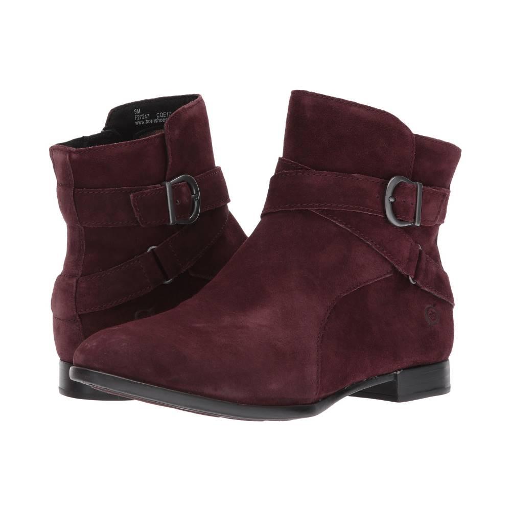 ボーン レディース シューズ・靴 ブーツ【Easton】Burgundy Suede