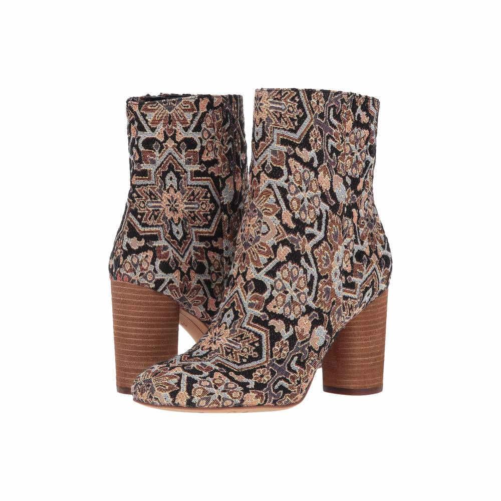 サム エデルマン レディース シューズ・靴 ブーツ【Corra】Black Faraj Tapestry Fabric