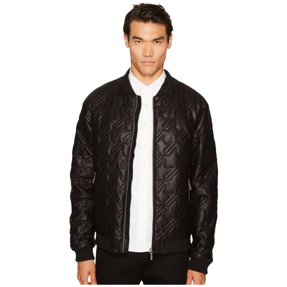 ヴェルサーチ メンズ アウター ジャケット【Quilted Leather Jacket】Black
