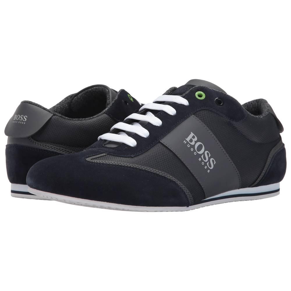 ヒューゴ ボス メンズ シューズ・靴 スニーカー【Lighter Low Coated Canvas Suede Sneaker by BOSS Green】Dark Blue