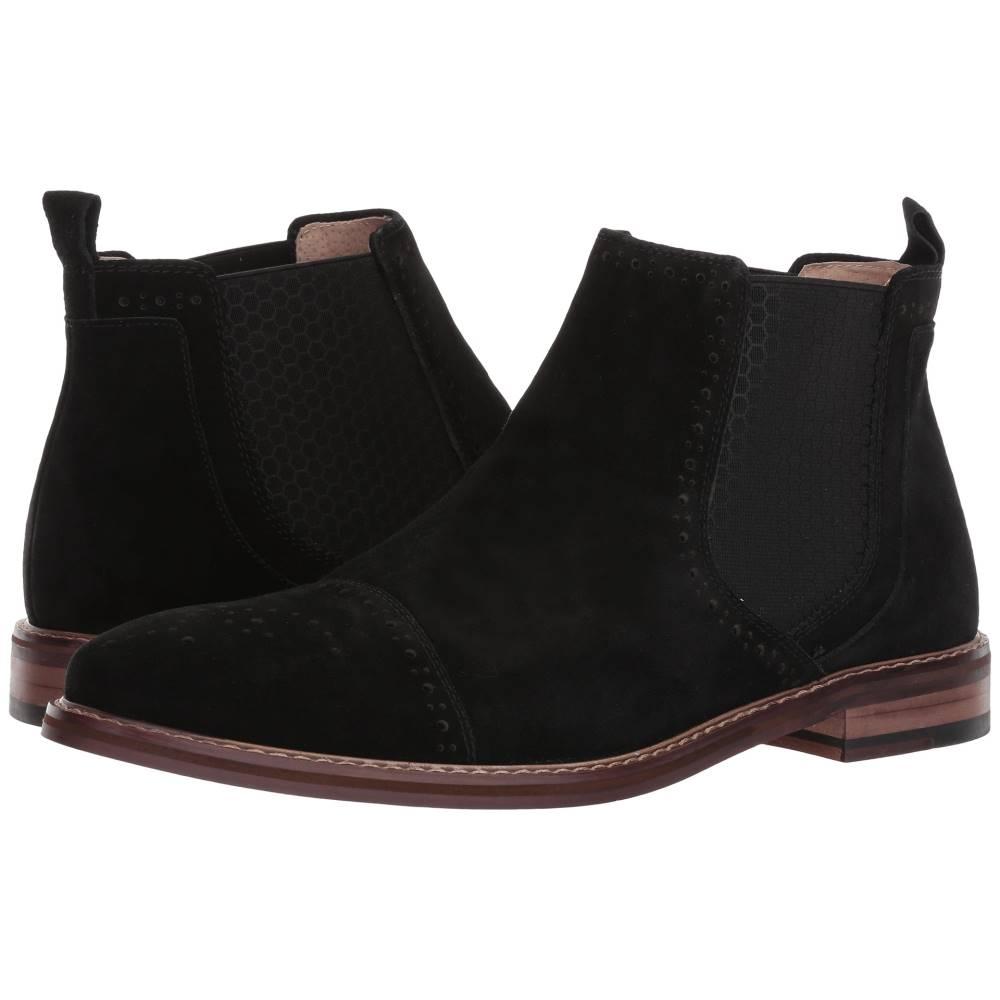 ステイシー アダムス メンズ シューズ・靴 ブーツ【Abner】Black Suede