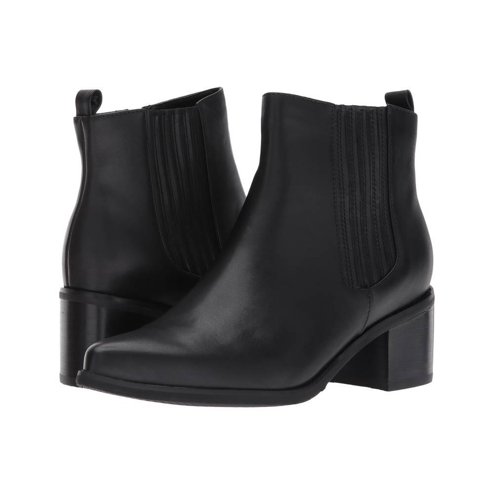 ブロンド レディース シューズ・靴 ブーツ【Elvina Waterproof】Black Leather