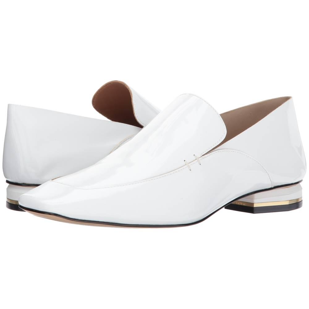 カルバンクライン レディース シューズ・靴 ローファー・オックスフォード【Bia】White Soft Patent/Soft Patent Unlined