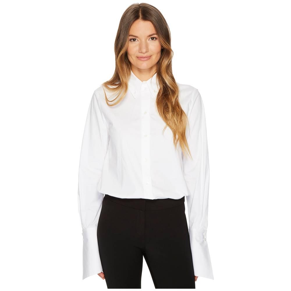 ジル サンダー レディース トップス ブラウス・シャツ【Cotton Poplin Long Sleeve Collared Shirt】White