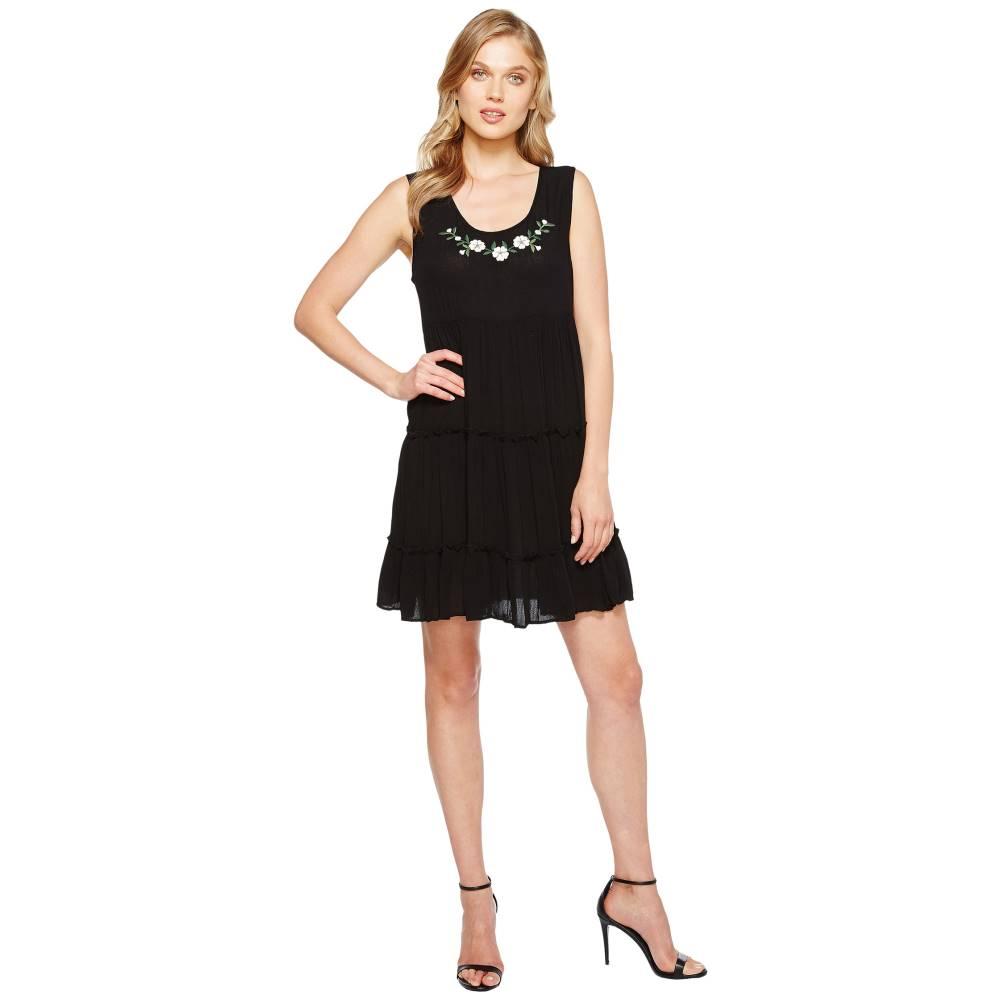 カレンケーン レディース ワンピース・ドレス ワンピース【Tiered Embroidery Dress】Black