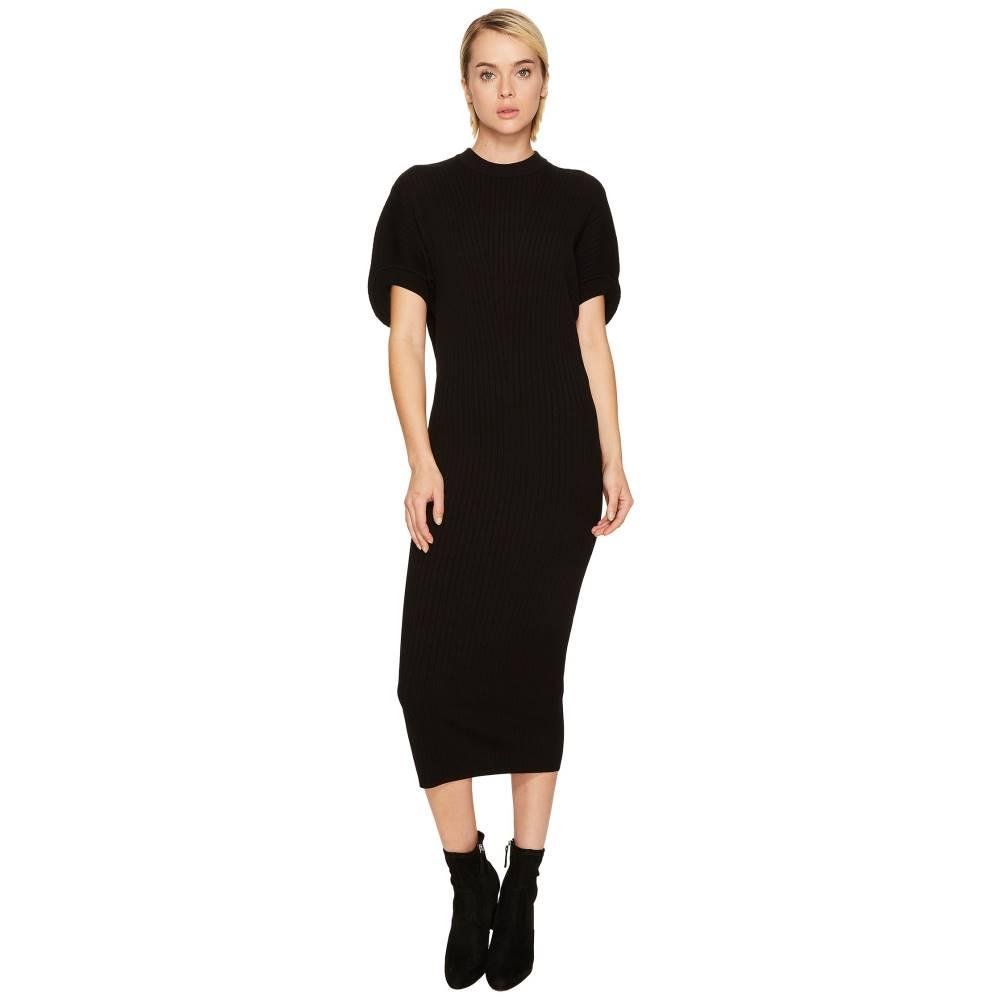 スポーツマックス レディース ワンピース・ドレス ワンピース【Volto Knit Short Sleeve Dress】Black